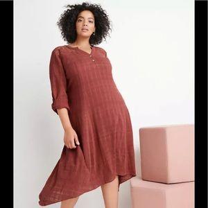 NWOT Ryllace Crochet Yoke Market Day Dress - 18